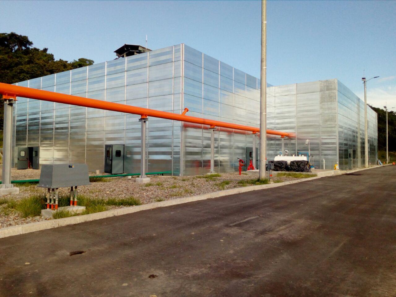 Sistemas de insonorizacion para ECG compresora La Malena Alcance : Estudios, diseños, fabricación e instalación de 1478 m2 de pantalla acústica. Duración : 1 año.