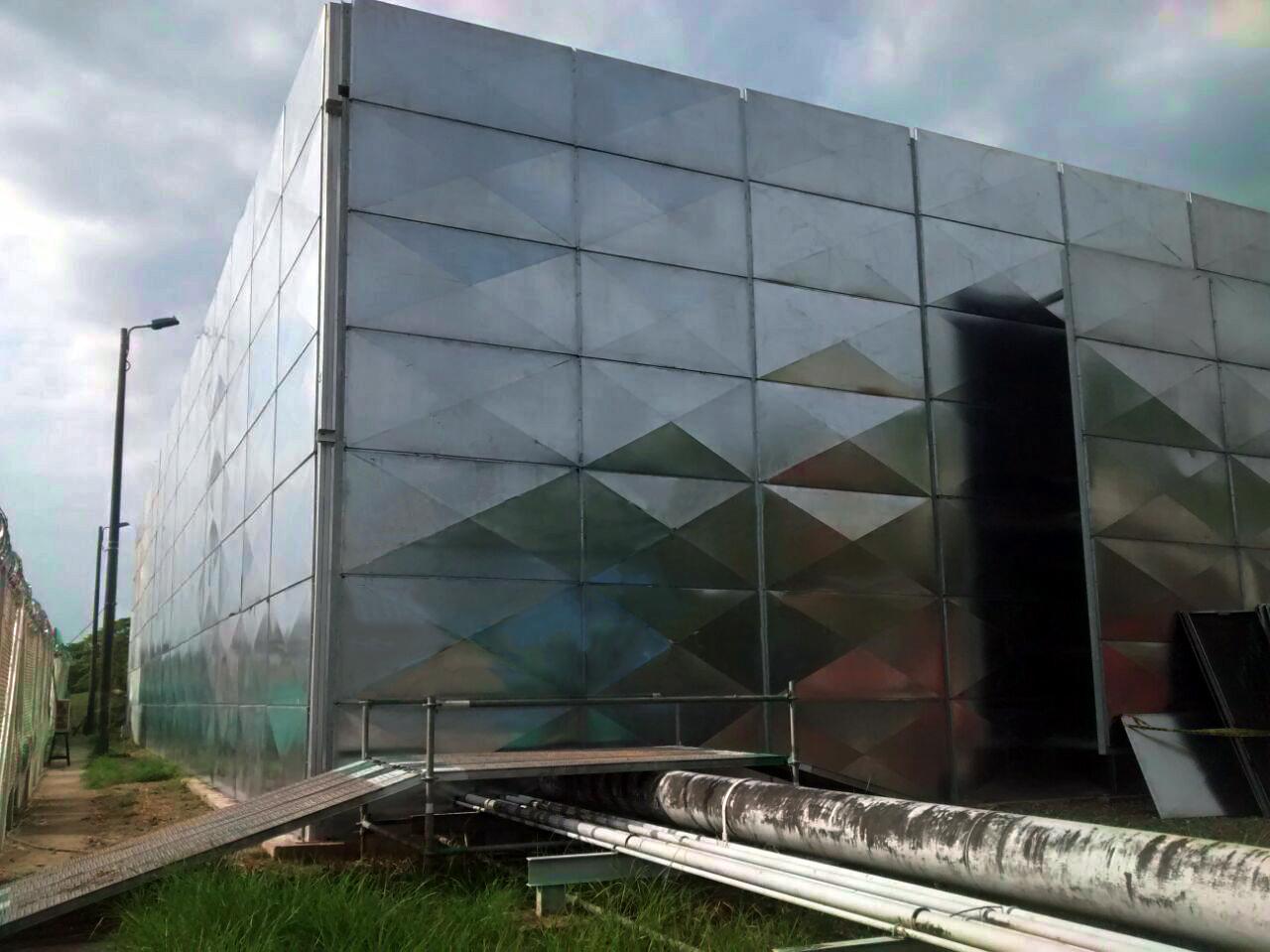 Ampliación de sistemas de insonorización para ECG Vasconia. Alcance : Estudios, diseños, fabricación e instalación de 870 m2 de pantalla acústica. Duración : 5 meses.